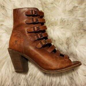 Frye Izzy Belted Short Boots